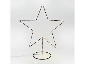 Χριστουγεννιάτικο Διακοσμητικό Αστέρι φωτιζόμενο Μεταλλικό  25Χ31 εκ.
