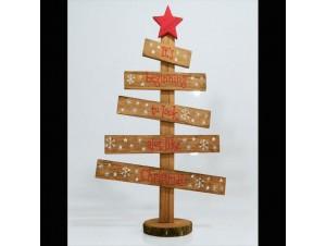 Χριστουγεννιάτικο ξύλινο διακοσμητικό δέντρο 29x18,5x6,5 εκ.