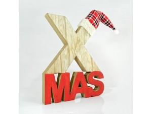Χριστουγεννιάτικο επιτραπέζιο διακοσμητικό 20Χ2,5Χ24 εκ.