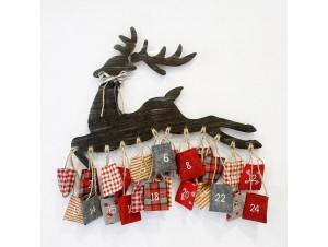 Χριστουγεννιάτικο Ξύλινο Ημερολόγιο Τοίχου 61x1x60 εκ.