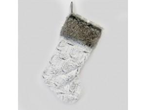 Χριστουγεννιάτικη γούνινη κάλτσα 28x4x54 εκ.