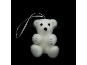 Χριστουγεννιάτικο στολίδι Αρκουδάκι 9 εκ.