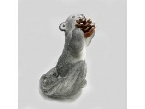 Χριστουγεννιάτικο Διακοσμητικό Ζωάκι-Σκίουρος 19 εκ.