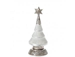 Χριστουγεννιάτικο Διακοσμητικό γυάλινο Δέντρο Φ 14x27 εκ.