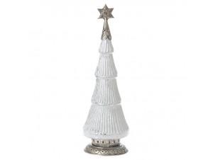 Χριστουγεννιάτικο Διακοσμητικό γυάλινο Δέντρο Φ 17x48 εκ.