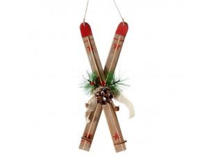 Χριστουγεννιάτικο Διακοσμητικό πέδιλα του σκι 29x11 εκ.