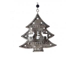 Χριστουγεννιάτικο μεταλλικό στολίδι δέντρο 9 εκ.