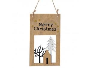Χριστουγεννιάτικο στολίδι ταμπέλα 12x37 εκ