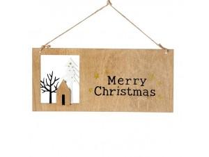 Χριστουγεννιάτικο στολίδι ταμπέλα 12x37 εκ.