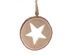 Χριστουγεννιάτικο ξύλινο στολίδι 20 εκ.