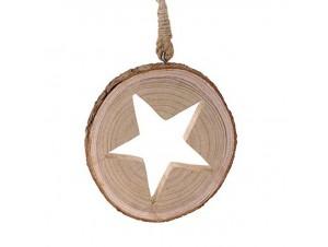 Χριστουγεννιάτικο ξύλινο στολίδι 25 εκ.