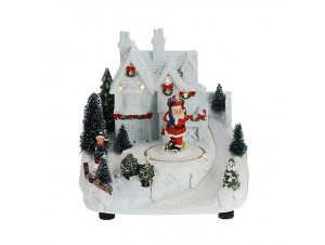 Χριστουγεννιάτικο σπιτάκι φωτιζόμενο 16x13x17 εκ