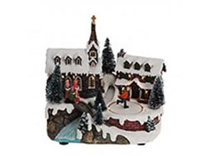 Χριστουγεννιάτικο σπιτάκι φωτιζόμενο 21 x 13 x 19 εκ.