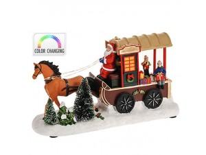 Χριστουγεννιάτικη άμαξα φωτιζόμενη 29,5x11x17 εκ
