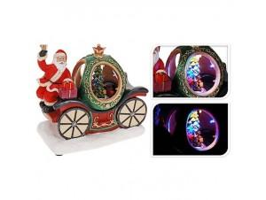 Χριστουγεννιάτικη άμαξα φωτιζόμενη 18x11x18 εκ