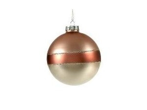 Χριστουγεννιάτικη Μπάλα μπορντό Γυάλινη 8 εκ.