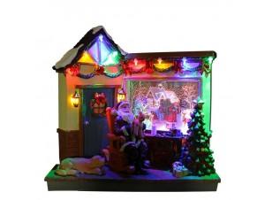 Χριστουγεννιάτικο Φωτιζόμενο Σπιτάκι 23x12x21 εκ.