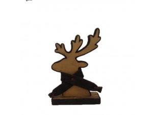 Χριστουγεννιάτικο Διακοσμητικό Ελάφι 16x4x24 εκ.