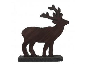 Χριστουγεννιάτικο Διακοσμητικό Ελάφι 30x5.5x32 εκ.