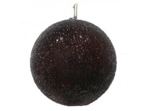 Χριστουγεννιάτικη Γυάλινη Μπάλα Μαύρη 10 εκ.