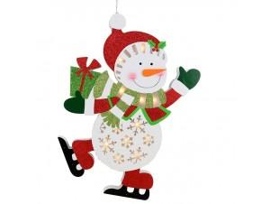 Χριστουγεννιάτικη Ταμπέλα Κρεμαστή με Led