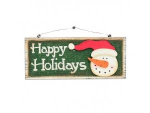 Χριστουγεννιάτικο διακοσμητικό ξύλινο 30x24 εκ.