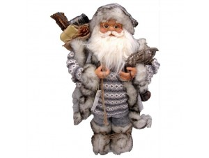 Χριστουγεννιάτικος Λούτρινος Άγιος Βασίλης 60 εκ.