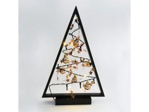 Χριστουγεννιάτικο ξύλινο διακοσμητικό δέντρο 27x40 εκ.