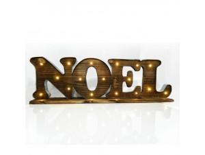 Χριστουγεννιάτικη ξύλινη φωτιζόμενη επιγραφή NOEL 71x10x22 εκ.