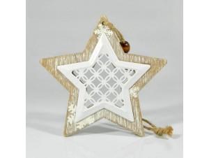 Χριστουγεννιάτικο Διακοσμητικό αστέρι 19,5X9,5X0,8 εκ.