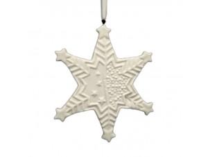 Χριστουγεννιάτικο κεραμικό στολίδι Αστέρι 10,5X0,5 εκ.