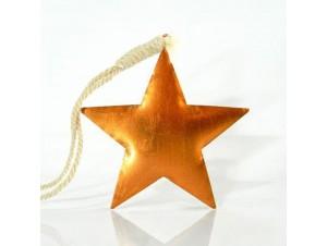 Χριστουγεννιάτικο μεταλλικό στολίδι αστέρι 9,5x9x0,2 εκ.