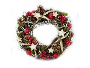 Χριστουγεννιάτικο διακοσμητικό Στεφάνι 35 εκ.