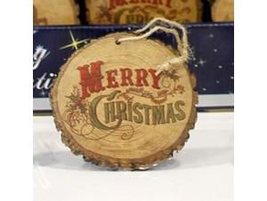 Χριστουγεννιάτικο Ξύλινο Στολίδι Κορμός Δέντρου 9 εκ.