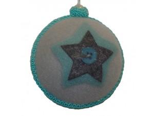 Χριστουγεννιάτικο Υφασμάτινο Στολίδι Μπάλα
