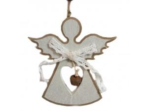 Χριστουγεννιάτικο Ξύλινο Στολίδι Άγγελος