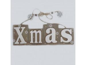Χριστουγεννιάτικο ξύλινο Διακοσμητικό 30 x 10 εκ.