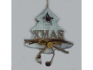 Χριστουγεννιάτικο κρεμαστό ξύλινο δέντρο 12 x 13 εκ.