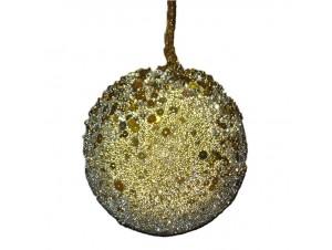 Χριστουγεννιάτικη μπάλα χρυσό-ασημί 9.5 εκ