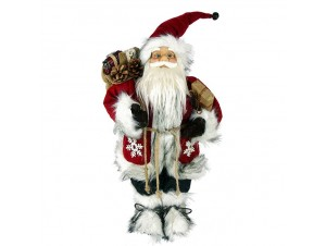 Διακοσμητικός Άγιος Βασίλης κόκκινο λευκό 30 εκ.