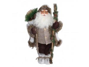 Διακοσμητικός Άγιος Βασίλης μπεζ καφέ 60 εκ.
