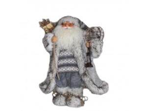 Διακοσμητικός Άγιος Βασίλης άσπρο γκρι 80 εκ.