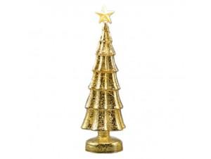 Χριστουγεννιάτικο Διακοσμητικό γυάλινο Δέντρο Φ 16x45 εκ.