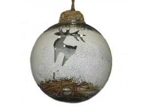 Χριστουγεννιάτικη Διάφανη Μπάλα 10 εκ.