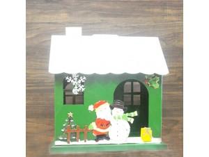 Χριστουγεννιάτικo διακοσμητικό Σπιτάκι 27.5x19x30.5 εκ