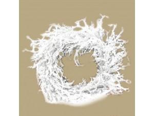 Χριστουγεννιάτικο στεφάνι παγωμένο ασημί 26 εκ