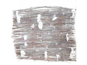 Φωτιζόμενος Φράχτης από χιονισμένα κλαδιά 80x60 εκ