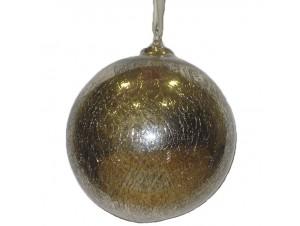 Χριστουγεννιάτικη Μπάλα αντικέ Γυάλινη 12 εκ