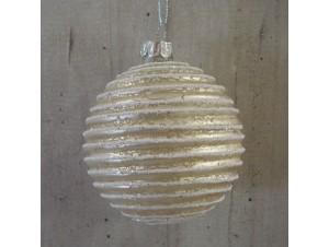 Χριστουγεννιάτικη μπάλα σαμπανιζέ 10 εκ.