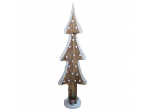 Χριστουγεννιάτικο ξύλινο φωτιζόμενο δέντρο 60 εκ.